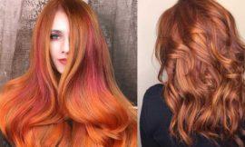 Золотисто медный цвет волос, оттенки, фото, краска