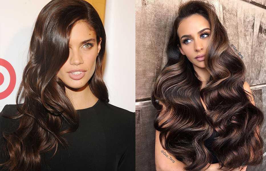 Коричневый цвет волос: оттенки, фото, краска, видео