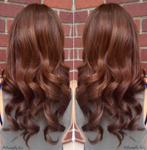 1 medium chestnut with subtle highlights1 1 1 - Каштановый цвет волос: оттенки, фото, краска, как покраситься