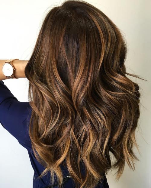 2 caramel highlights for brown hair - Цвет волос шатен краска, фото, кому подходит