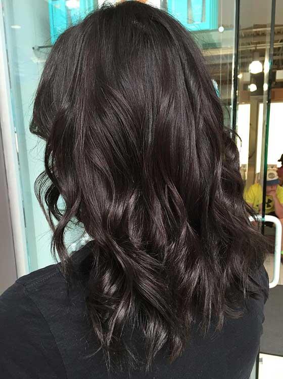 23. Two Toned Dark Chocolate 2 - Шоколадный цвет волос: фото, краска, кому подходит