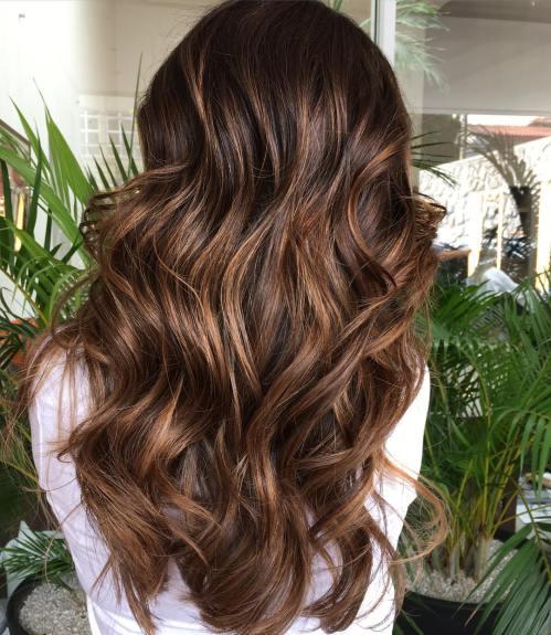 3 dark brown hair with chocolate highlights - Шоколадный цвет волос: фото, краска, кому подходит