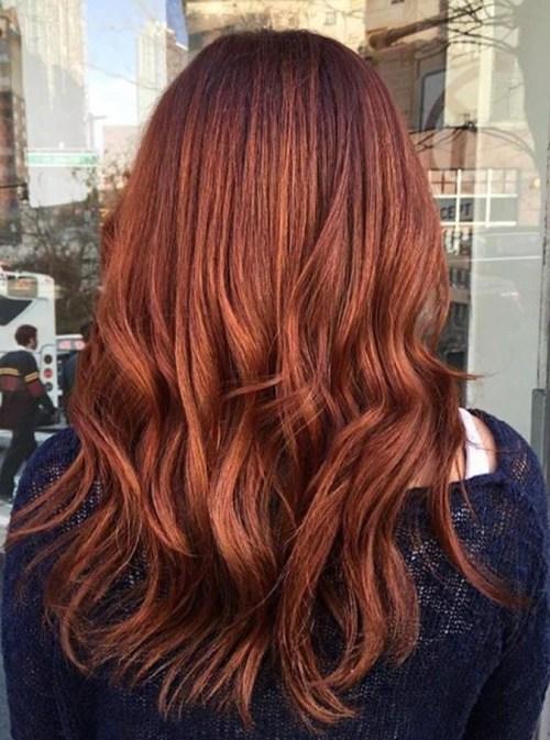 30 red with an edge 1 - Каштановый цвет волос: оттенки, фото, краска, как покраситься