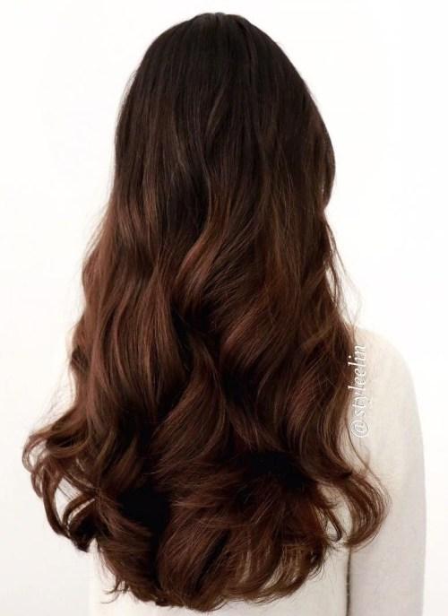 39 layered auburn hairstyle 1 - Каштановый цвет волос: оттенки, фото, краска, как покраситься