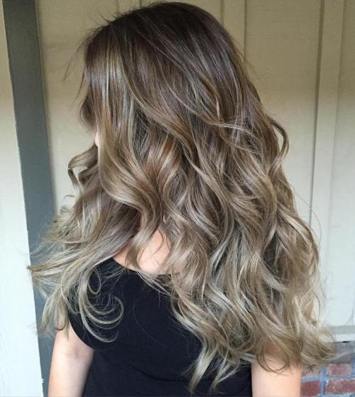 4 brown hair with ash blonde balayage - Коричнево пепельный блондин