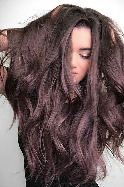 455d30faa7ed6b72bddb6037236ab716 fun colors for brown hair brown amethyst hair 1 - Цвет волос шатен краска, фото, кому подходит