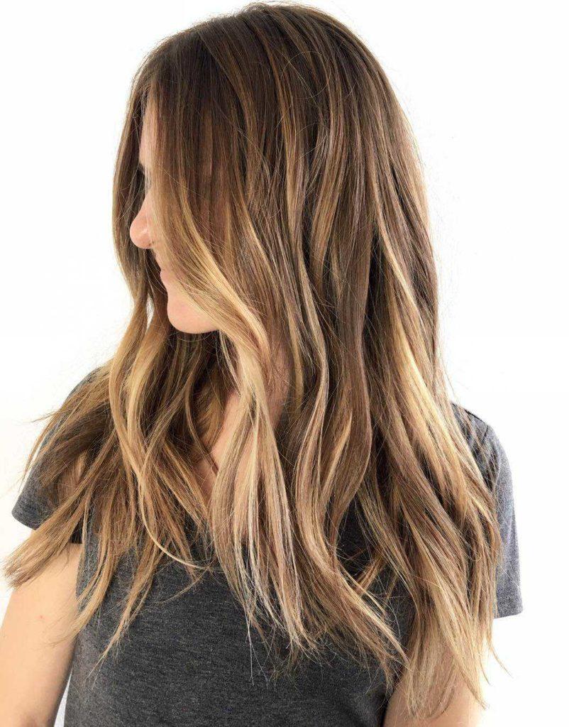 7 blonde balayage for long brown hair 802x1024 - Цвет темный блонд: оттенки, волосы, краска, фото