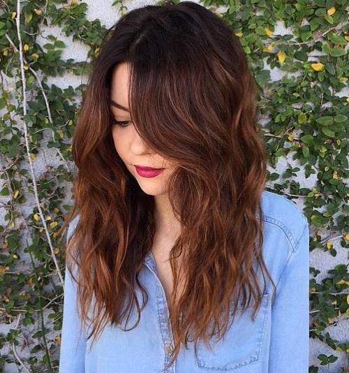 7 long wavy chestnut brown hairstyle 2 - Каштановый цвет волос: оттенки, фото, краска, как покраситься