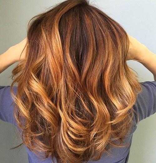 8 medium curly hairstyle for thick hair - Каштановый цвет волос: оттенки, фото, краска, как покраситься