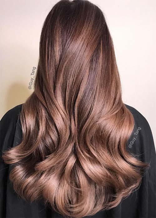 Chocolate Mauve Hair Colors Ideas Hairstyles4 - Русый цвет волос: оттенки, фото, краска, как покраситься