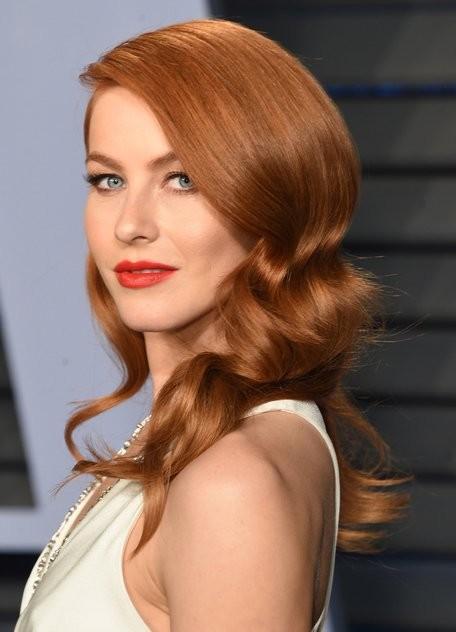 Julianne Hough wears the trendy hair color copper - Золотисто медный цвет волос, оттенки, фото, краска