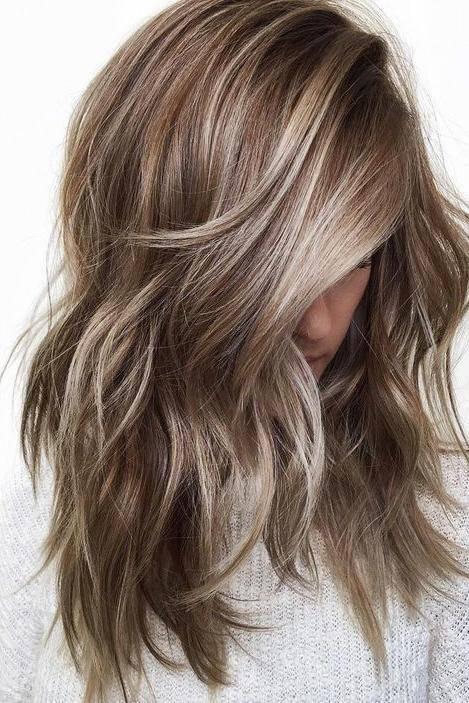 ash blonde highlights on brunette - Коричнево пепельный блондин