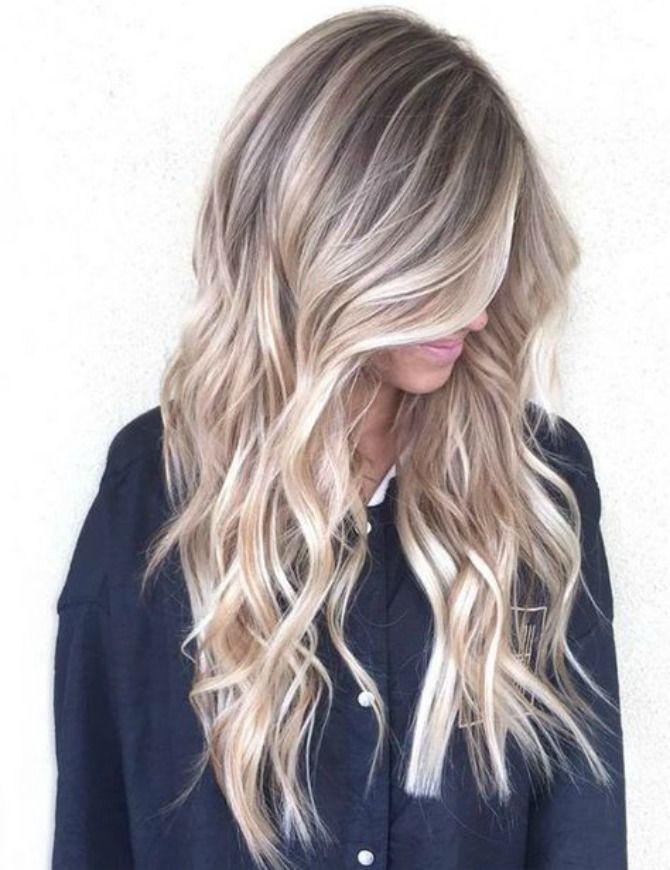 blonde balayage hair color ash blonde golden blonde beach mermaid hair ideas - Цвет жемчужный блондин: оттенки, фото, краска, как покраситься