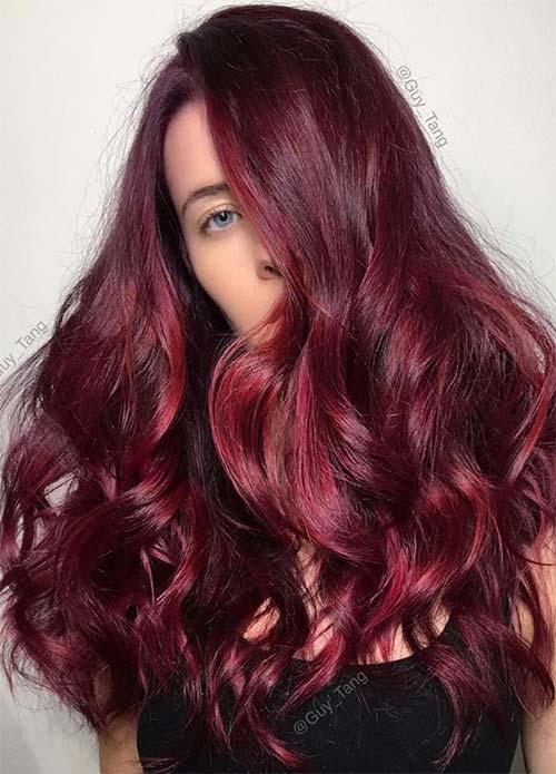 dark hair colors deep red auburn hair colors6 - Каштановый цвет волос: оттенки, фото, краска, как покраситься