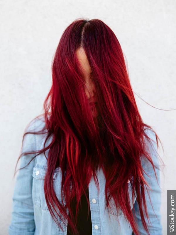 65 - Бордовый цвет волос: оттенки, фото, краска, как покраситься