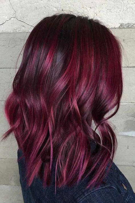 24 - Бордовый цвет волос: оттенки, фото, краска, как покраситься