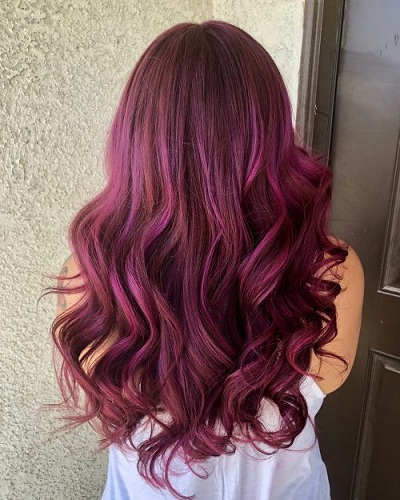 25 - Бордовый цвет волос: оттенки, фото, краска, как покраситься