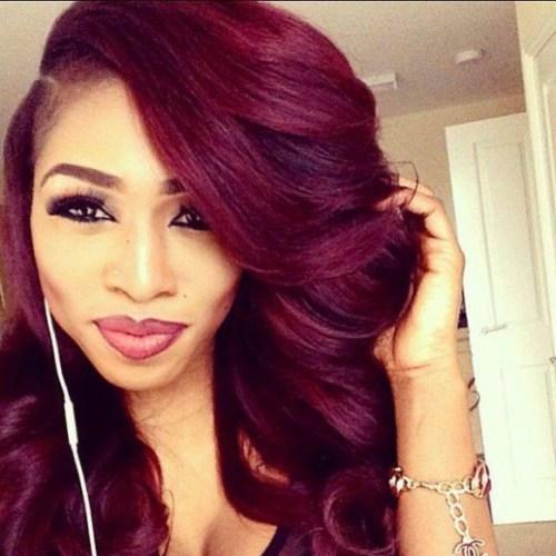 8 - Бордовый цвет волос: оттенки, фото, краска, как покраситься