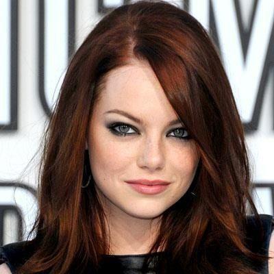 стоунн - Бордовый цвет волос: оттенки, фото, краска, как покраситься
