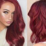 Бордовый цвет волос: оттенки, фото, краска, как покраситься