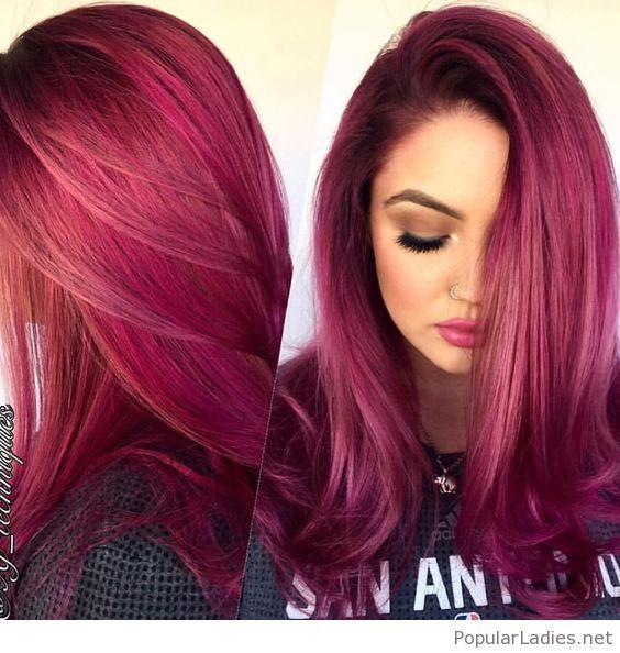 Shades of Burgundy Hair Color 19781324176199509 - Бордовый цвет волос: оттенки, фото, краска, как покраситься
