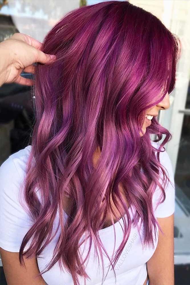 b6167c29db2b34d234e51d3a07731a1e - Бордовый цвет волос: оттенки, фото, краска, как покраситься