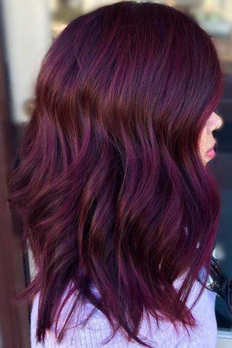 burgundy violet - Бордовый цвет волос: оттенки, фото, краска, как покраситься