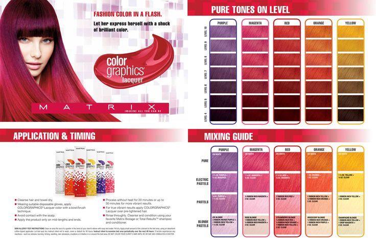 color graphic 1 - Краска для волос Matrix, палитра, инструкция