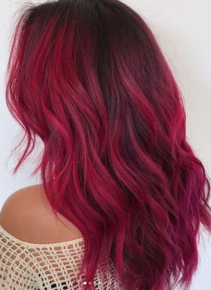 red2 - Бордовый цвет волос: оттенки, фото, краска, как покраситься