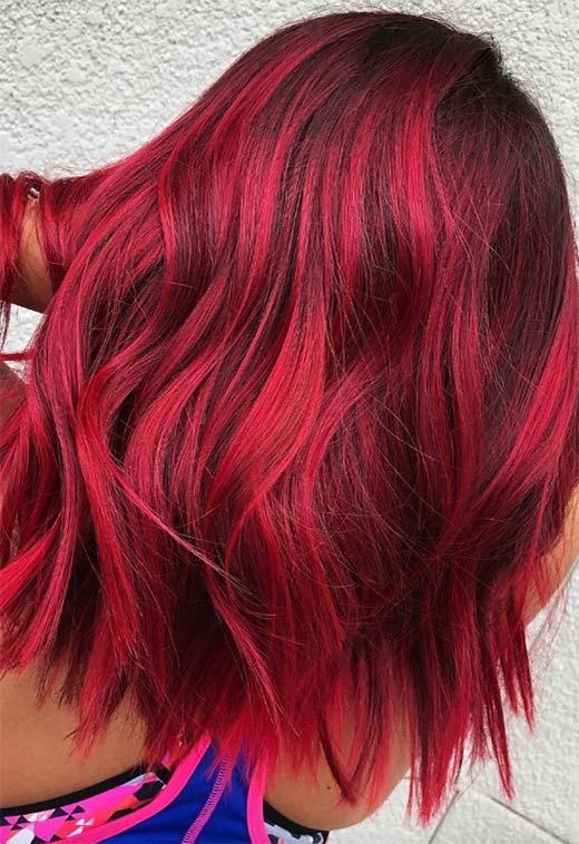 red4 - Бордовый цвет волос: оттенки, фото, краска, как покраситься