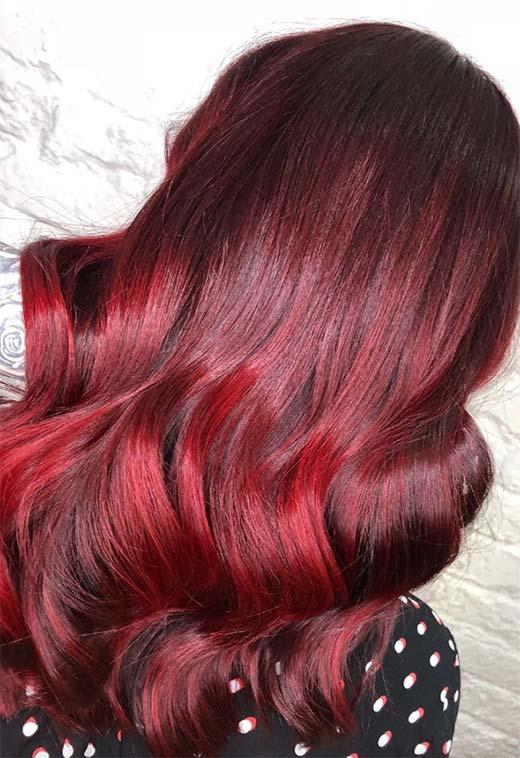 red5 - Бордовый цвет волос: оттенки, фото, краска, как покраситься
