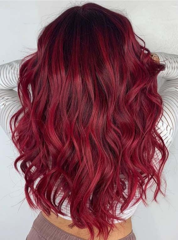 red6 - Бордовый цвет волос: оттенки, фото, краска, как покраситься
