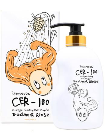 Бальзам-ополаскиватель с коллагеном CER-100 Collagen Coating Hair Muscle Treatment Rinse, 500 мл
