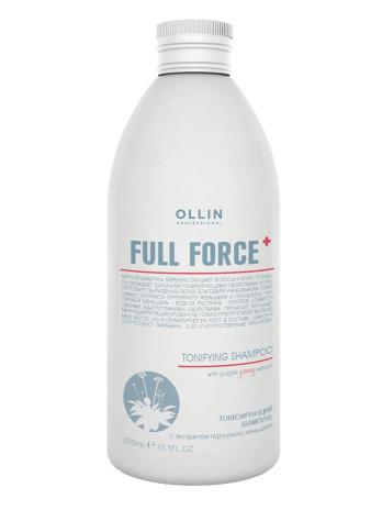 Тонизирующий шампунь с экстрактом пурпурного женьшеня Olllin Full Force 300мл/750МЛ