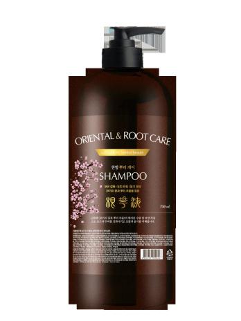 Лекарственный травяной шампунь для кожи головы Oriental Root Care Shampoo, 750 мл