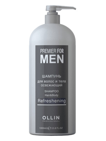 Шампунь для волос и тела освежающий Ollin Premier for men (Shampoo Hair & Body Refreshening), 250мл/1000мл