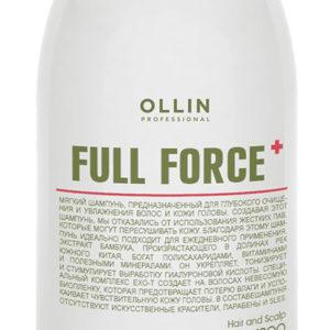 Очищающий шампунь для волос и кожи головы Olllin Full Force с экстрактом бамбука, 250мл/ 650 мл