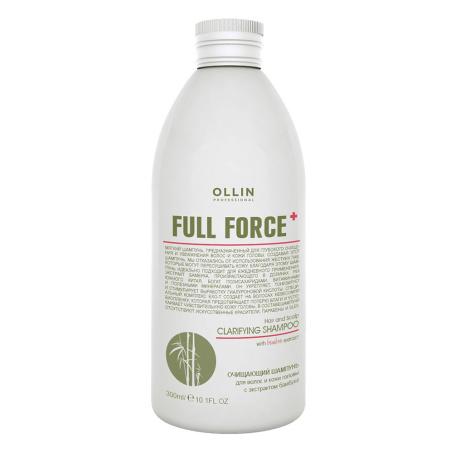 шампук 300 454x454 - Очищающий шампунь для волос и кожи головы Olllin Full Force с экстрактом бамбука, 250мл/ 650 мл