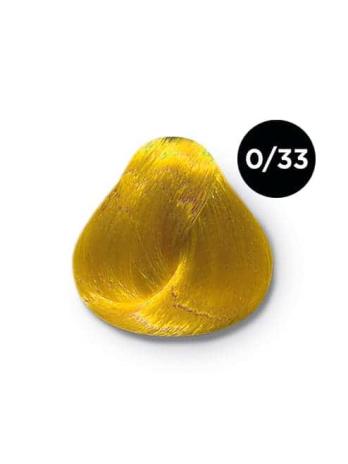Ollin Color 0.33 корректор желтый, 60 мл/100 мл. Перманентная крем краска для волос