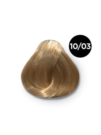 Ollin Performance 10.03 светлый блондин прозрачно-золотистый. Перманентная стойкая крем-краска с комплексом VIBRA RICHE, 60 мл