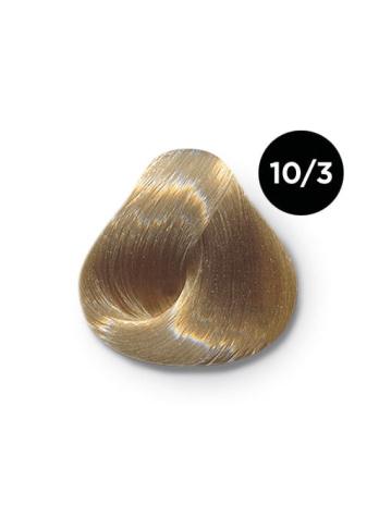 Ollin Color 10.3 светлый блондин золотистый, 60 мл/100 мл. Перманентная крем краска для волос