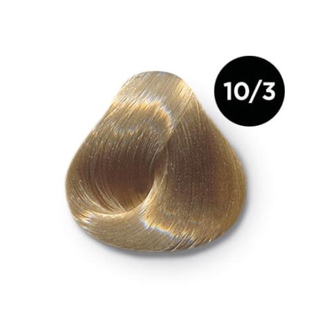 10 3 крем краска Ollin color 454x454 - Ollin Color 10.3 светлый блондин золотистый, 60 мл/100 мл. Перманентная крем краска для волос