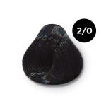 Ollin Performance 2.0- черный. Перманентная стойкая крем-краска с комплексом VIBRA RICHE, 60 мл