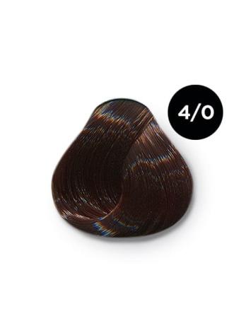 Ollin Color 4.0 шатен, 60 мл/100 мл. Перманентная крем краска для волос