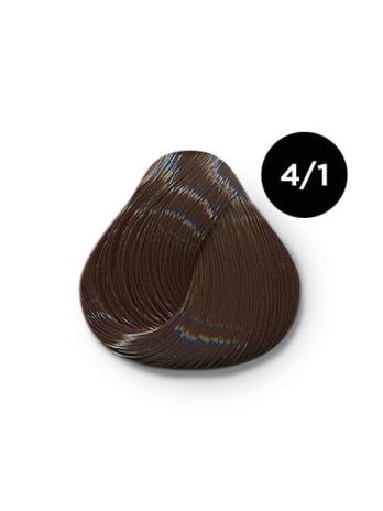 Ollin Color 4.1 шатен пепельный, 60 мл/100 мл. Перманентная крем краска для волос