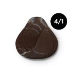 Ollin Silk Touch 4.1 шатен пепельный 60 мл. Безаммиачный стойкий краситель для волос