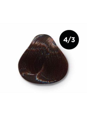 Ollin Color 4.3 шатен золотистый, 60 мл/100 мл. Перманентная крем краска для волос