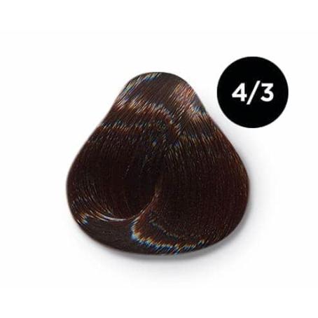 4 3 крем краска Ollin color 454x454 - Ollin Color 4.3 шатен золотистый, 60 мл/100 мл. Перманентная крем краска для волос