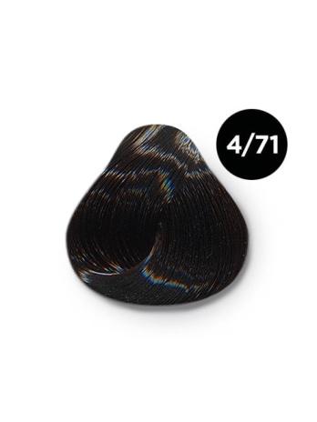 Ollin Silk Touch 4.71 шатен коричнево-пепельный 60 мл. Безаммиачный стойкий краситель для волос