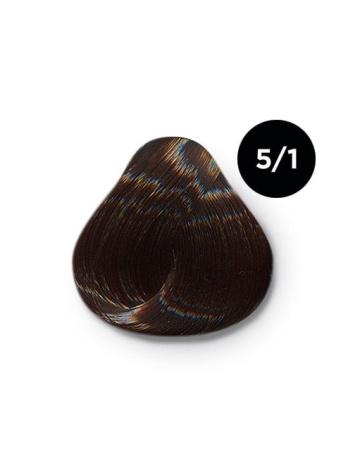 Ollin Color 5.1 светлый шатен пепельный, 60 мл/100 мл. Перманентная крем краска для волос